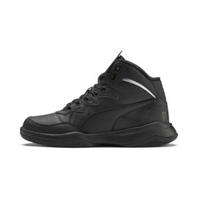 Thumbnail 1 of PUMA Rebound Playoff SL Sneakers JR, Puma Black-Puma Silver, medium