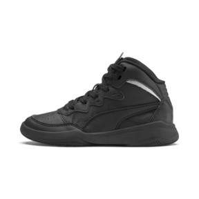 Miniatura 1 de ZapatosPUMA Rebound Playoff SL para niños, Puma Black-Puma Silver, mediano