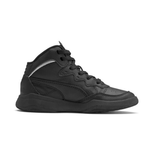 ZapatosPUMA Rebound Playoff SL para niños, Puma Black-Puma Silver, grande