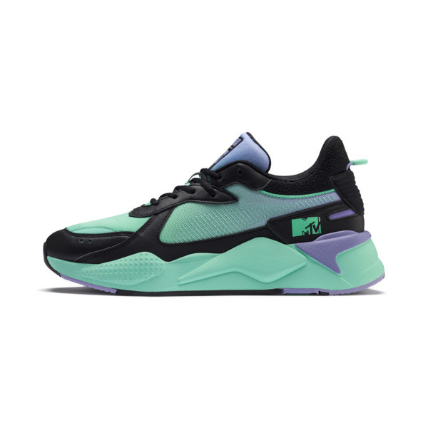 PUMA x MTV RS-X Tracks Pastel 2 Trainers, Puma Black-Sweet Lavender, large