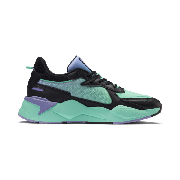 RS-X Tracks MTV Gradient Gloom Sneakers, Puma Black-Sweet Lavender, large