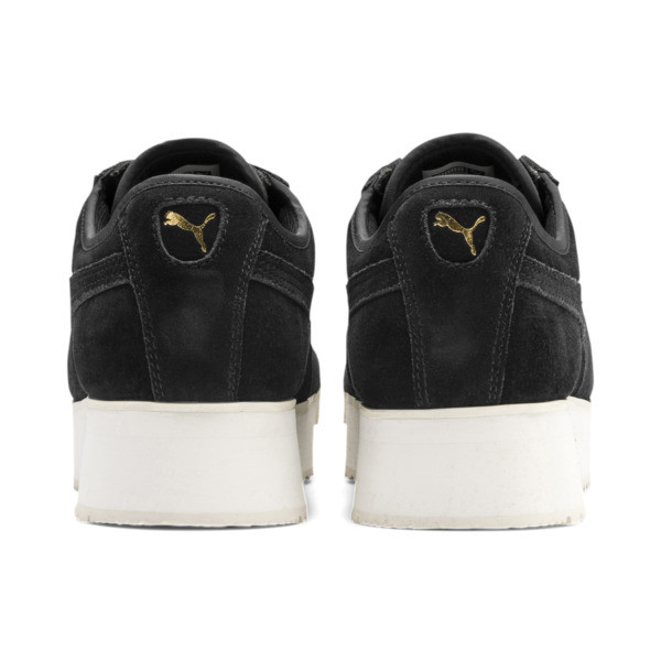 Roma Amor Suede Women's Sneakers, Puma Black-Puma Team Gold, large