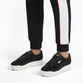 Thumbnail 2 of Roma Amor Suede Women's Sneakers, Puma Black-Puma Team Gold, medium