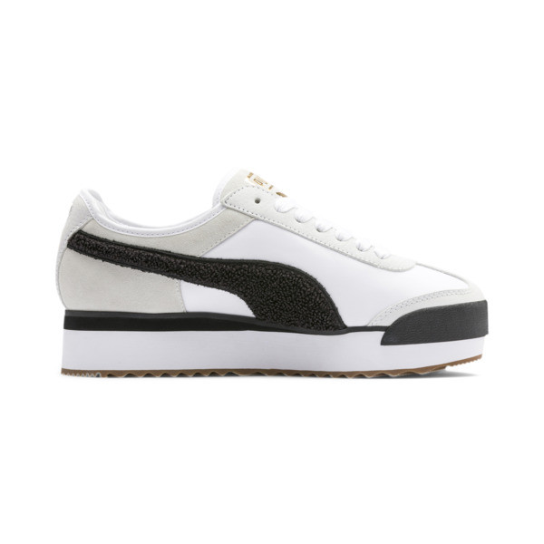 Roma Amor Heritage Women's Sneakers, Puma White-Puma Black, large