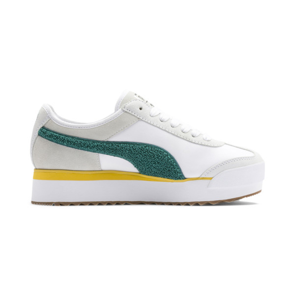 Roma Amor Heritage Women's Sneakers, Puma White-Teal Green, large