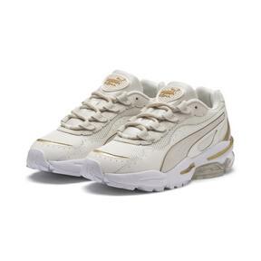 Miniatura 3 de Zapatos deportivos CELL Stellar Soft para mujer, Puma White-Puma Team Gold, mediano