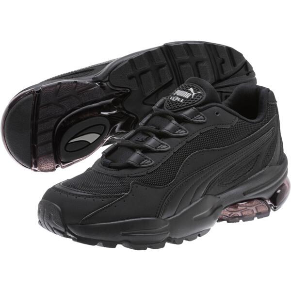 CELL Stellar Women's Sneakers, Puma Black-Silver, large