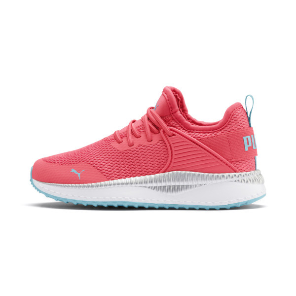 Zapatos Pacer Next Cage Metallic para niño pequeño, Calypso Coral-Milky Blue, grande