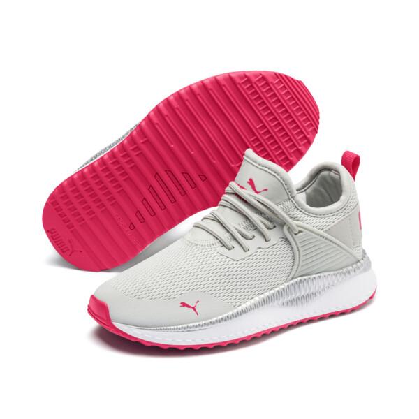 Zapatos Pacer Next Cage Metallic para niño pequeño, Gray Violet-Nrgy Rose, grande