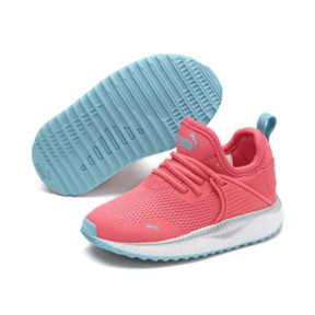 Thumbnail 2 of Pacer Next Cage Metallic Toddler Shoes, Calypso Coral-Milky Blue, medium