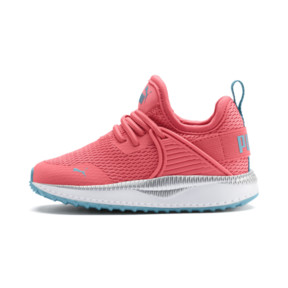 Thumbnail 1 of Pacer Next Cage Metallic Toddler Shoes, Calypso Coral-Milky Blue, medium