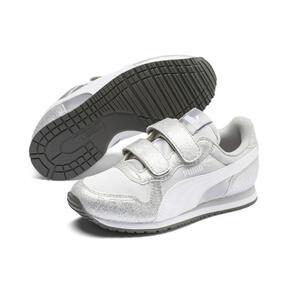 Thumbnail 2 of Cabana Racer Glitz AC Shoes PS, Puma Silver-Puma White, medium