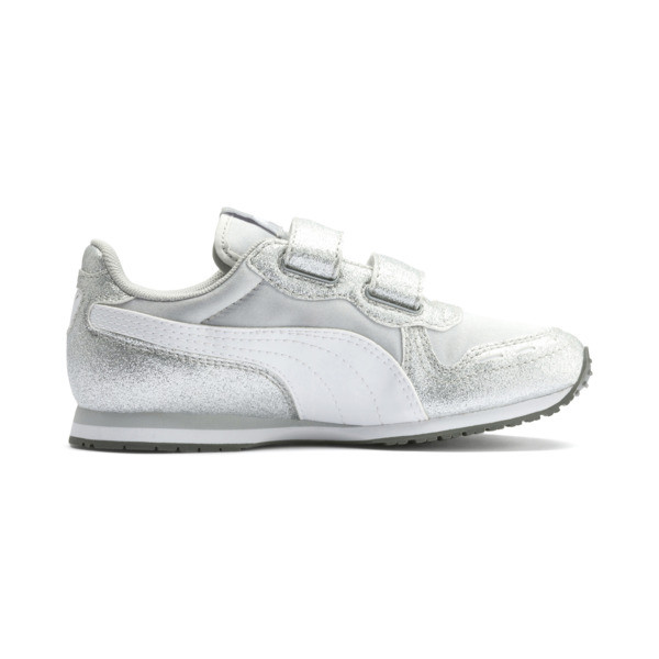 Cabana Racer Glitz AC Shoes PS, Puma Silver-Puma White, large