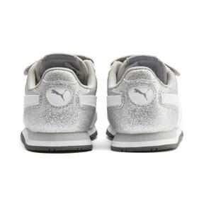 Thumbnail 3 of Cabana Racer Glitz AC Shoes INF, Puma Silver-Puma White, medium