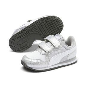 Thumbnail 2 of Cabana Racer Glitz AC Shoes INF, Puma Silver-Puma White, medium