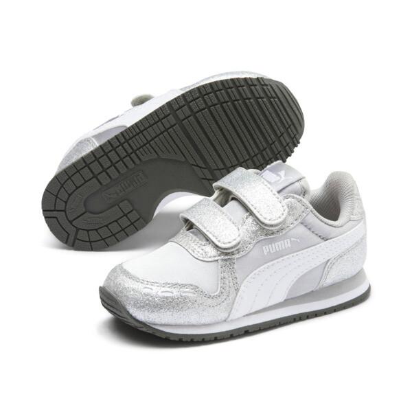 Cabana Racer Glitz AC Shoes INF, Puma Silver-Puma White, large