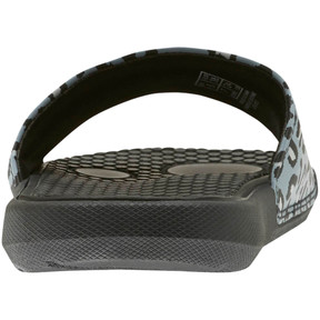 Thumbnail 3 of Cool Cat Sport Leopard Print Women's Slides, Puma Black-Glacier Gray, medium