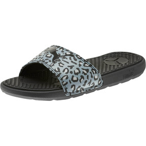 Thumbnail 1 of Cool Cat Sport Leopard Print Women's Slides, Puma Black-Glacier Gray, medium