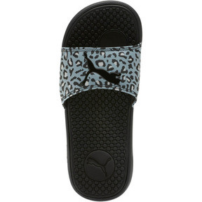 Thumbnail 5 of Cool Cat Sport Leopard Print Women's Slides, Puma Black-Glacier Gray, medium