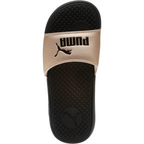 Thumbnail 5 of Cool Cat Metallic Women's Slides, Puma Black-Rose Gold, medium
