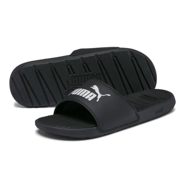 Cool Cat Men's Slides, Puma Black-Puma White, large