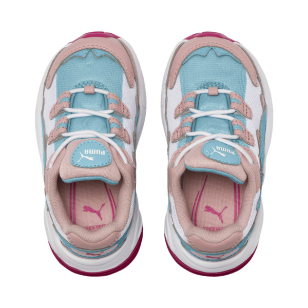 CELL Alien Cosmic Babies' Trainers, Bridal Rose-Milky Blue, large