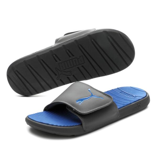 Cool Cat Sport V Slides, Asphalt-Royal Blue, large