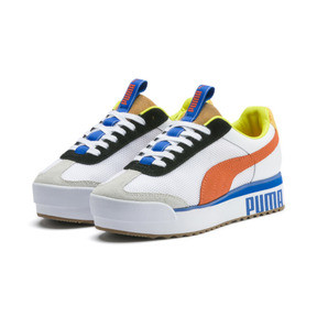 Thumbnail 2 of Roma Amor Sport Women's Sneakers, Puma White-Mandarine Red, medium