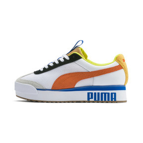 Thumbnail 1 of Roma Amor Sport Women's Sneakers, Puma White-Mandarine Red, medium