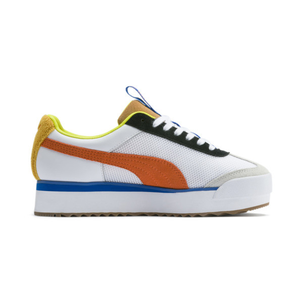 Roma Amor Sport Women's Sneakers, Puma White-Mandarine Red, large