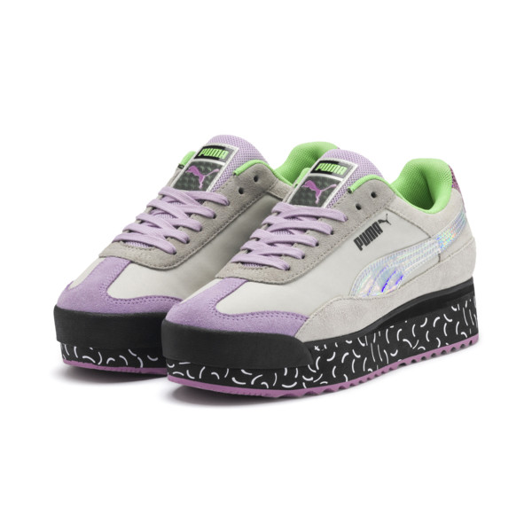 Roma Amor Dimension Women's Sneakers, Agate Gray-Smoky Grape, large