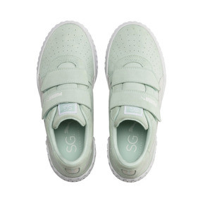 Thumbnail 7 of PUMA x SELENA GOMEZ Cali Patent Women's Trainers, Fair Aqua-Puma White, medium
