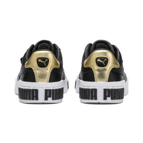 Thumbnail 3 of Cali Bold Metallic Damen Sneaker, Puma Black-Gold, medium