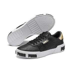 Thumbnail 2 of Cali Bold Metallic Damen Sneaker, Puma Black-Gold, medium