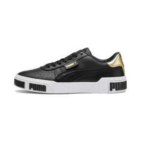 Thumbnail 1 of Cali Bold Metallic Damen Sneaker, Puma Black-Gold, medium