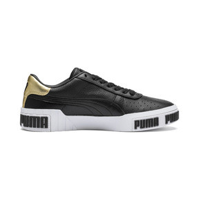 Thumbnail 5 of Cali Bold Metallic Damen Sneaker, Puma Black-Gold, medium