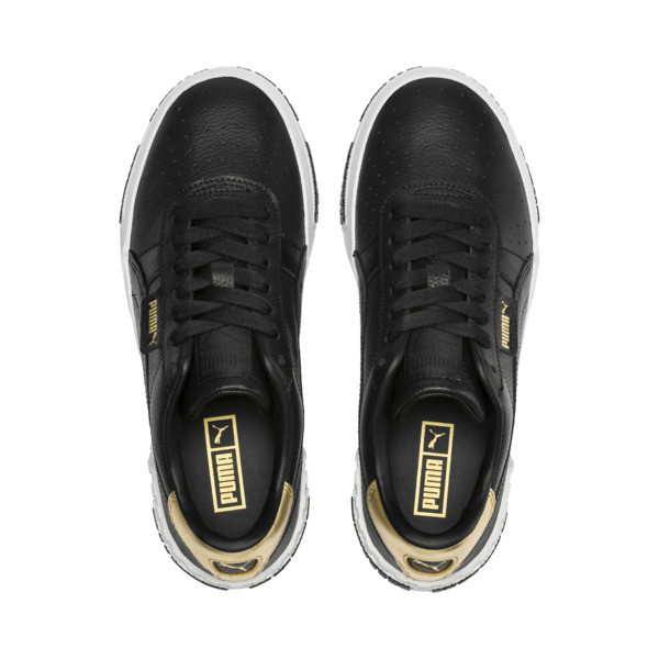 Cali Bold Metallic Damen Sneaker, Puma Black-Gold, large