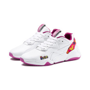 Thumbnail 2 of Nova x Barbie Flash Women's Trainers, Puma White-CABARET, medium