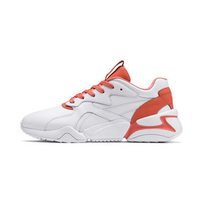 Thumbnail 1 of PUMA x PANTONE Nova 2 Women's Trainers, Puma White-Living Coral, medium