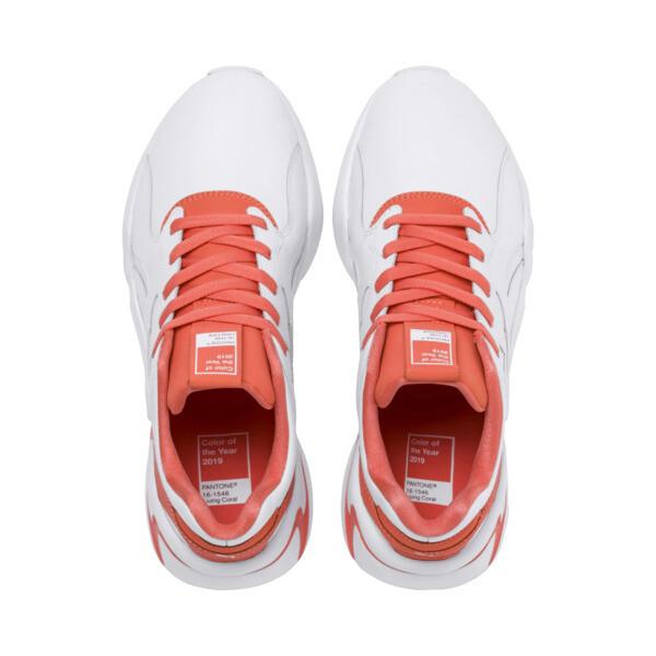 Nova x Pantone 2 Women's Sneakers, Puma White-Living Coral, large