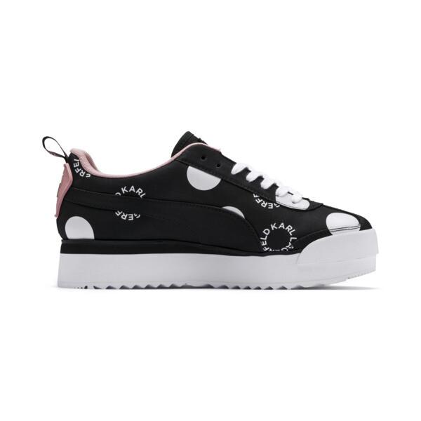 PUMA x KARL LAGERFELD Roma Platform Polkadot Damen Sneaker, Puma Black-Puma white, large