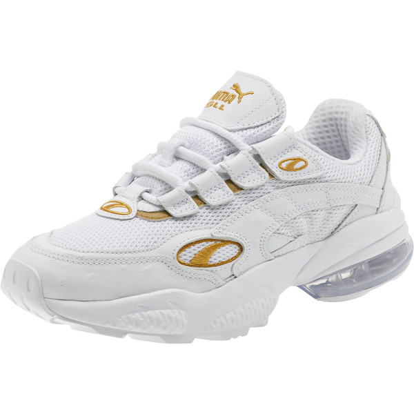 CELL Venom WO Women's Sneakers, Puma White-Puma Team Gold, large