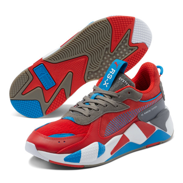 RS-X Retro Sneakers, Red-Steel Gray-Indigo, large