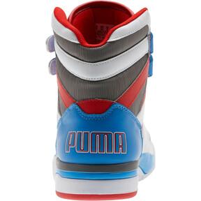 Miniatura 3 de Zapatos deportivos de caña media Palace Guard Retro, White-Indigo Bunting-Red, mediano