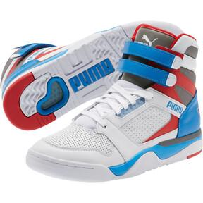 Miniatura 2 de Zapatos deportivos de caña media Palace Guard Retro, White-Indigo Bunting-Red, mediano