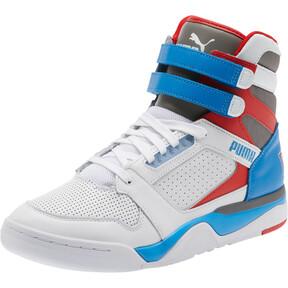 Miniatura 1 de Zapatos deportivos de caña media Palace Guard Retro, White-Indigo Bunting-Red, mediano