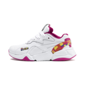 Thumbnail 1 of PUMA x BARBIE Nova Flash Kid Girls' Trainers, Puma White-CABARET, medium