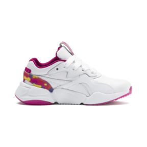 Thumbnail 5 of PUMA x BARBIE Nova Flash Kid Girls' Trainers, Puma White-CABARET, medium
