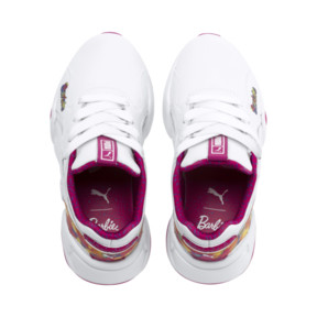 Thumbnail 6 of PUMA x BARBIE Nova Flash Kid Girls' Trainers, Puma White-CABARET, medium