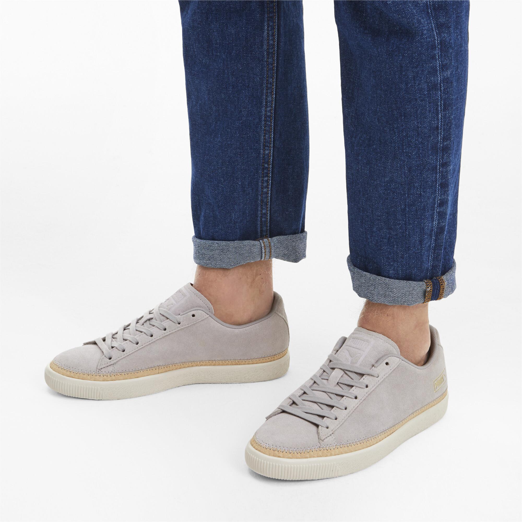 PUMA-Men-039-s-Suede-Trim-DLX-Sneakers thumbnail 5